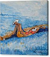 Hello Young Lovers In Blue Canvas Print