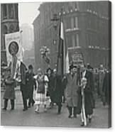 �help Hungary� Parade In Streets Of London Canvas Print