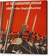Help Russian War Relief American World Canvas Print