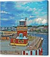 Helsingborg Lighthouse Hdr Canvas Print