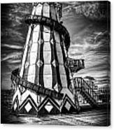 Helter Skelter Mono Canvas Print