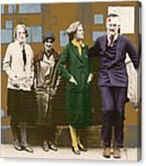 Hemingway In Blood Canvas Print