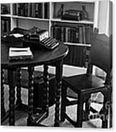 Hemmingway's Desk Canvas Print