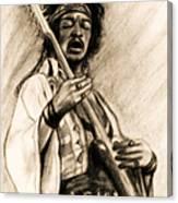 Hendrix-antique Tint Version Canvas Print