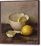 Henk Bos Fruits Still Life Lemons With White Bowl Digital