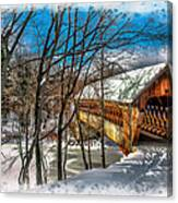 Henniker Bridge Canvas Print