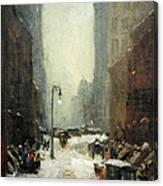Henri's Snow In New York Canvas Print