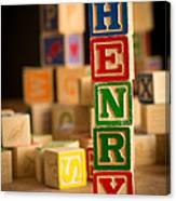 Henry - Alphabet Blocks Canvas Print
