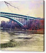 Henry Hudson Bridge And The Palisades Canvas Print