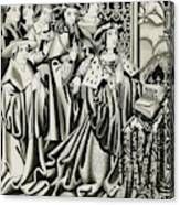 Henry Vi And His Court At  Prayer Canvas Print