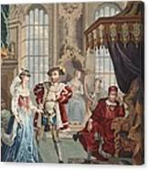 Henry Viii And Anne Boleyn Canvas Print