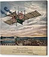 Henson's Aerial Steam Carriage 1843 Canvas Print