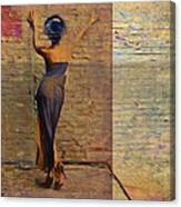 Her Back To The Wall Canvas Print