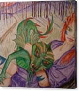 Her Dragon Canvas Print