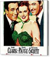 Her Kind Of Man, Us Poster, From Left Canvas Print