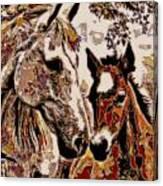 Her Little Colt Canvas Print