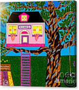 Her Tree House Canvas Print