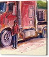 Her Truck Canvas Print