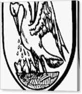 Heraldry Pelican Canvas Print