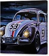 Herbie The Love Bug Painting Canvas Print