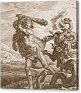 Hercules Fights The Lernian Hydra Canvas Print