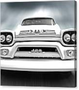 Here Comes The Sun - Gmc 100 Pickup 1958 Black And White Canvas Print