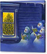Here We Come A Caroling Canvas Print
