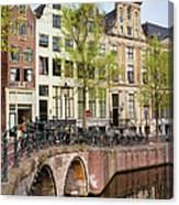 Herengracht Canal Houses In Amsterdam Canvas Print