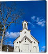 Heres The Church And The Steeple Canvas Print