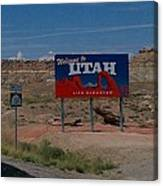 Here's Utah Canvas Print