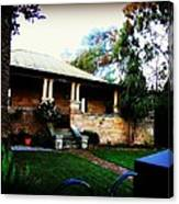 Heritage Sandstone House In Sydney Australia Canvas Print