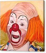 Watercolor Clown #9 Herky The Clown Canvas Print