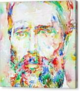 Herman Melville Watercolor Portrait.1 Canvas Print