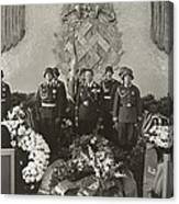 Hermann Goering At The Funeral Canvas Print