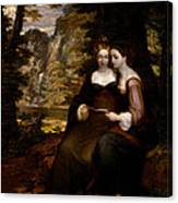 Hermia And Helena Canvas Print