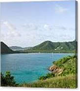 Hermitage Bay Panorama Antigua Canvas Print