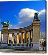 Heroes Square Canvas Print