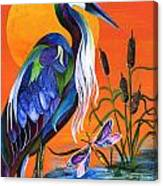 Heron Blue Canvas Print