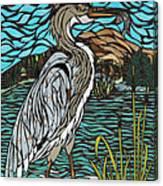Heron On Connor Creek Canvas Print