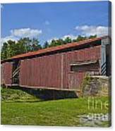 Herr Mill Covered Bridge Canvas Print