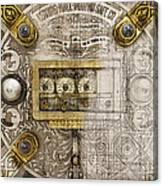 Herring Hall Marvin Co. Bank Vault Door Lock Canvas Print