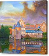 Herten In The Fall Canvas Print