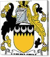 Hervey Coat Of Arms Irish Canvas Print