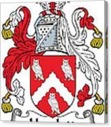 Hewlett Coat Of Arms Irish Canvas Print