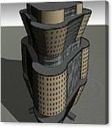 Triagonal Building 3 Canvas Print