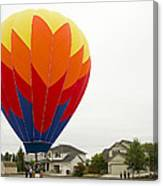 Hey Mom There Is A Big Balloon In Our Driveway Canvas Print