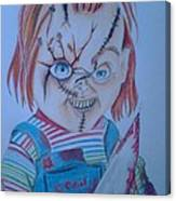 Hi I'am Chucky  Wanna Play Canvas Print