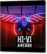 Hi-vi Arcade Canvas Print
