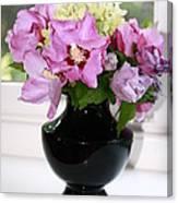 Hibiscus And Hydrangea Flower Canvas Print