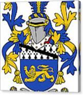 Hickey Coat Of Arms Irish Canvas Print